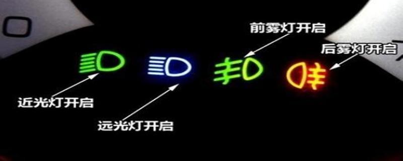 开启前照灯近光时仪表板上亮起是如何判定的?