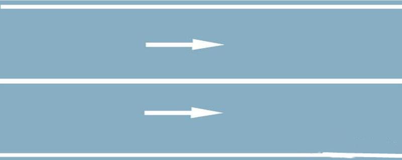路中心白色实线是何含义?