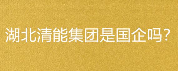 湖北清能集团是国企吗?